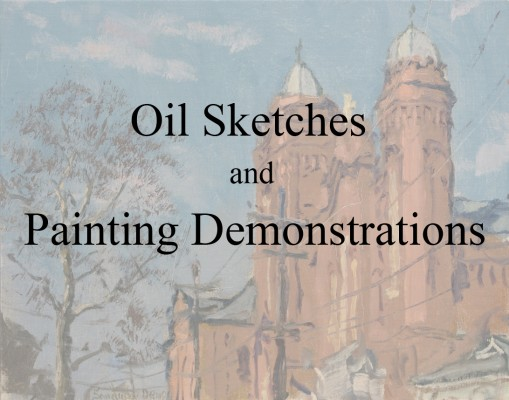 Plein Air Sketches and Painting Demonstrations