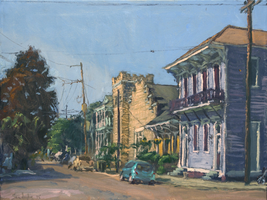 """Franklin Ave and Burgundy St   18"""" x 24""""   $3200"""