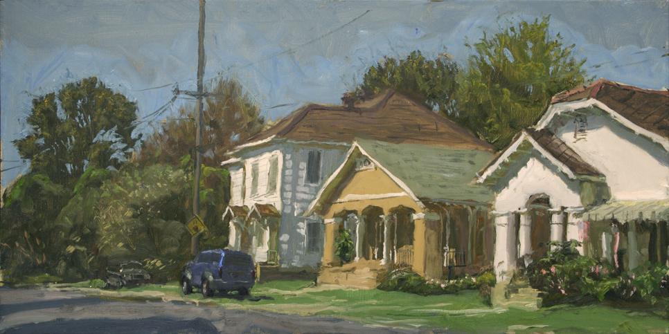 "Houses along Cambronne Near Zimpel Street  15"" x 30"""