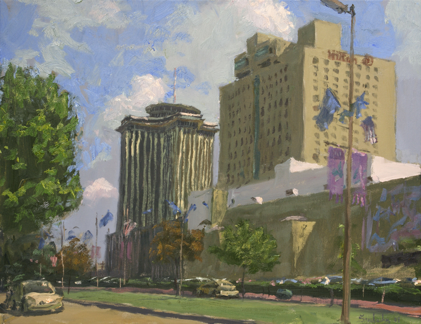 """View along Convention Center Blvd. 16"""" x 20"""" $2700"""
